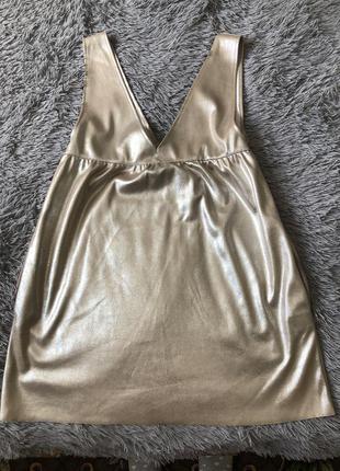 Платье zara цвета металлик