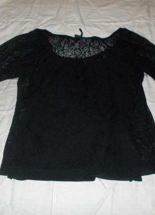 Кружевной комплект майка и блузка kappahl
