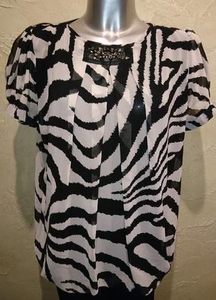 Бирка элегантое зебра платье туника rinascimento ххl 18
