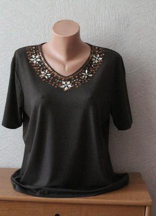 C&a- нарядная, женственная футболка, германия оригинал р. xl-xxl, сост. идеал