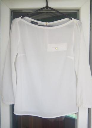 Женская белая блузка yessica с рукавами полупрозрачная рубашка блуза сзади молния