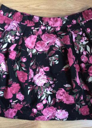 Мега крутая стильная юбка в цветочный принт от new look