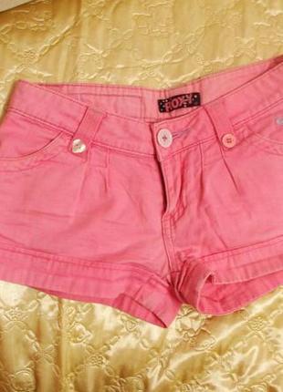 Розовые короткие шортики roxy xxs