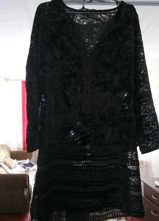 Полупрозрачное платье zara