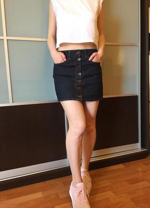 Юбка джинсовая мини спідниця