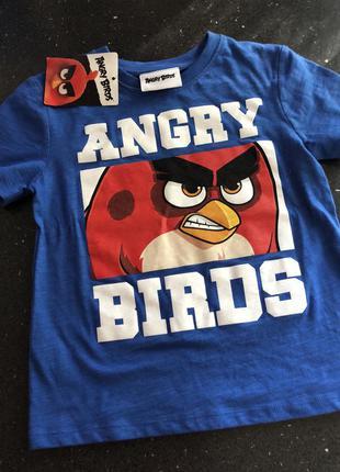 Футболка angry birds 4-5 лет