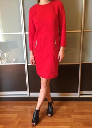 Платье красное платье офисное вечернее  сукня червона