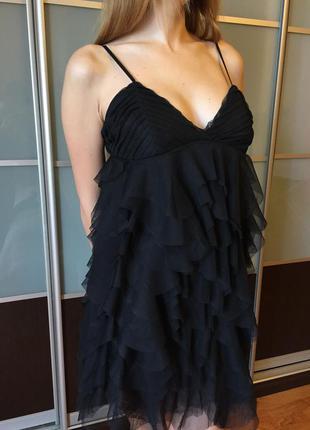 Платье черное платье вечерние сукня чорна коротка