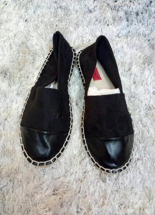 Эспадрильи с кожаным носком