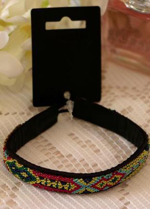 Кожаный браслет с этно-узором pilgrim дания элитная ювелирная бижутерия