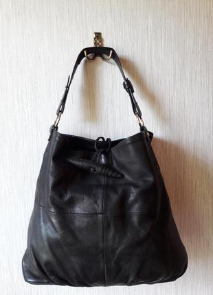 Кожаная сумка-шопперка vera pelle