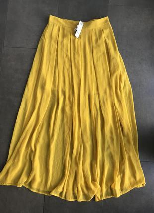 Лёгкая, воздушная, струящаяся шифоновая юбка в пол sisley