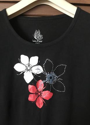 Элегантная фирменная женская футболка р l/xl