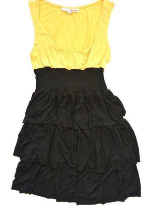 Милое платье с оборками