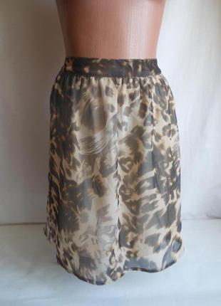 Юбка в леопардовом стиле vero moda.оригинал.сделано для англии.