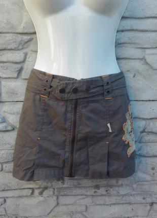 Распродажа!!! классная, стильная юбка с рисунком oneill