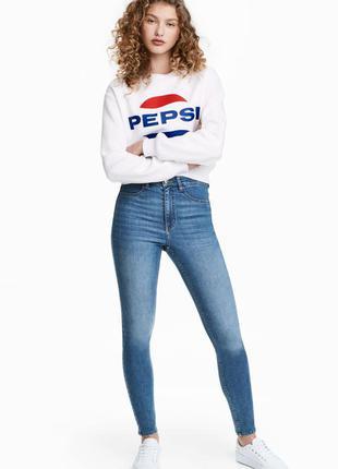 Крутые джинсы skinny на высокой талии h&m