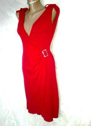 Красное алое стрейчевое платье ,m /l