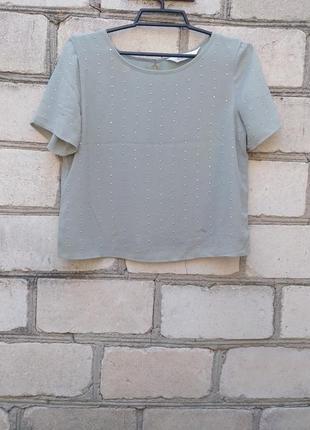 Шифоновая укороченная футболка