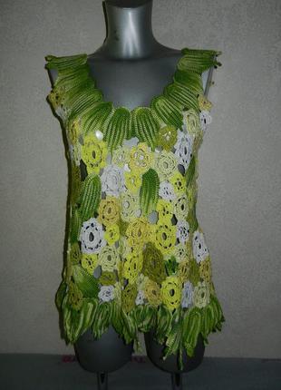 Блуза ирландское кружево,top from the irish lace hand made