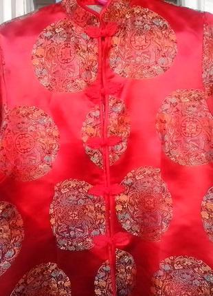 Атласная рубашка в китайском стиле