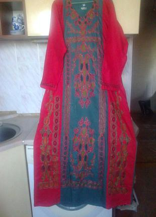 Новое платье - рубаха восточный бохо этно стиль, коттон египет