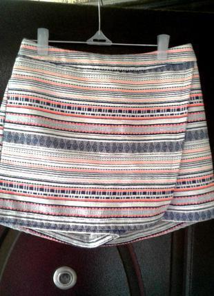 Катоновые шорты - юбка, 13-14лет.