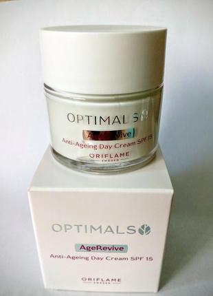 Антивозрастной дневной крем для лица spf 15 optimals age revive