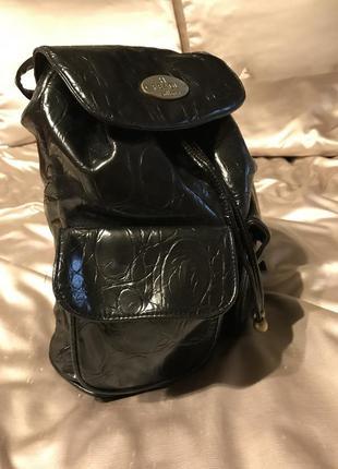 Чёрный рюкзак эко кожа , мода 2018