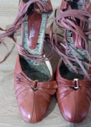 Кожаннсые туфли, босоножки, бренда  bellissimo 40 р.