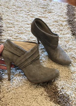Ботинки ботильоны натуральный замш
