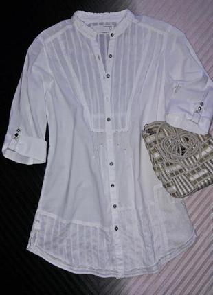 Легкая удлиненная рубашка из воздушного хлопка