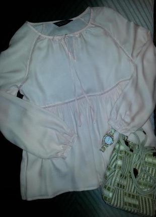 🌼нежнейшая кремово-персиковая блуза из вискозы
