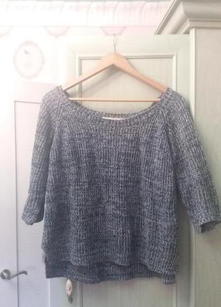 Модная вязаная кофта свитер zara