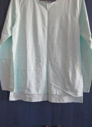 Базовая футболка с длинным рукавом бирюзовая