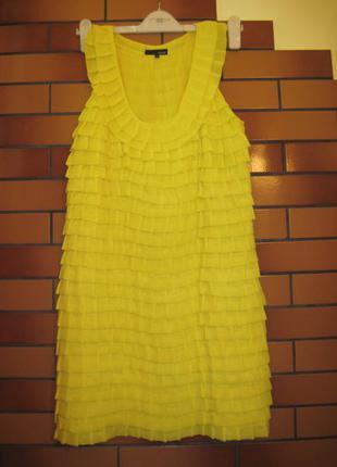 Крутое платье в рюши next s/m