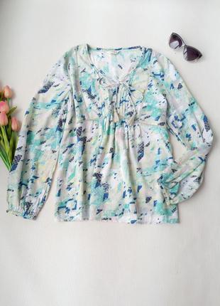 Блузка свободного кроя из натуральной ткани от  marks&spencer размер xl (14)