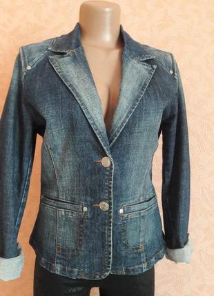 Классический джинсовый пиджак жакет