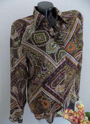 Винтажная блуза с рюшами