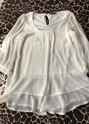 Белая блуза, туника  atmosphere