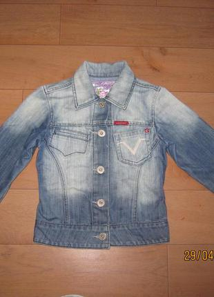 Джинсовый пиджак жакет vingino для девочки 10 лет италия актуально!