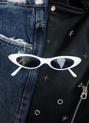 Солнцезащитные очки в стиле ретро винтаж узкие
