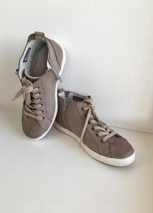Ботинки-кеды tamaris, 36,5р натуральная кожа (нубук)