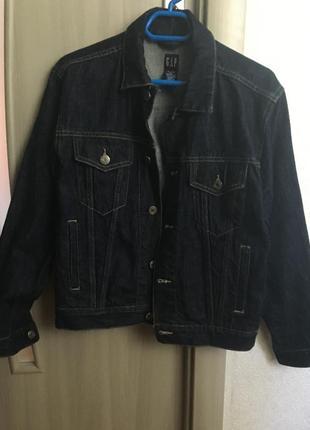 Синяя джинсовка gap