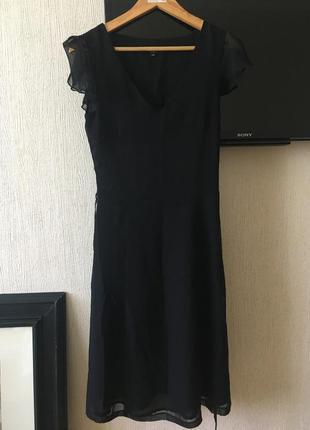 Легкое черное платье от vila