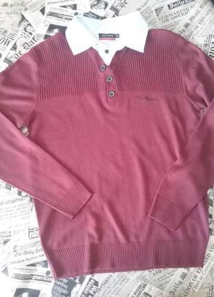 Тоненький акриловый свитер-обманка