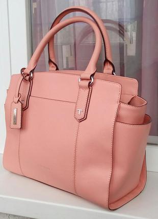 Стильная новая кожаная сумка-тоут tignanello.