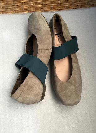 Туфли кожаные think,ортопедические замшевые
