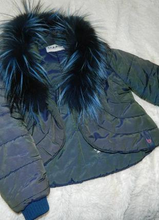 Курточка весняна з натуральним хутром