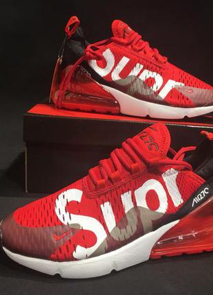Nike air max 270 мужские красные кроссовки supreme на лето Nike ... 6182b3aff2075
